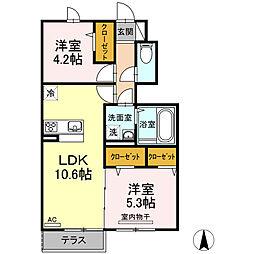 仮)D-room上鷺宮1丁目[1階]の間取り