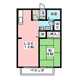ファミール下加茂IIB[1階]の間取り