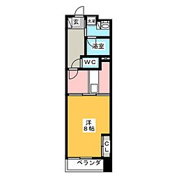 POWERHOUSE the residence 7階1DKの間取り