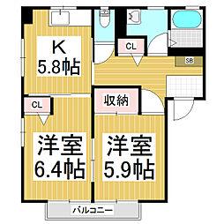 三輪ハウス[2階]の間取り