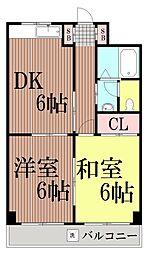 東京都大田区西蒲田4丁目の賃貸マンションの間取り