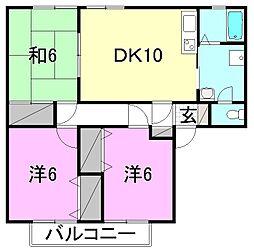 スプリングスヒル中央[A-201 号室号室]の間取り