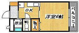ワイエムカリヤ[3階]の間取り