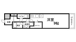 兵庫県神戸市兵庫区出在家町2丁目の賃貸マンションの間取り