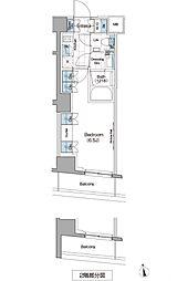 ザ・パークハビオ新宿[5階]の間取り