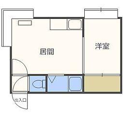 第17森宅建マンション[1階]の間取り