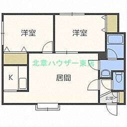 フレンズII[2階]の間取り