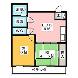ロイヤル小坂[2階]の間取り