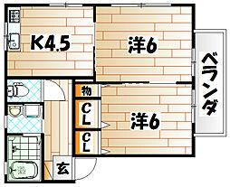 葛葉こぶし館[1階]の間取り