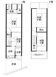 [タウンハウス] 大阪府大東市緑が丘2丁目 の賃貸【大阪府 / 大東市】の間取り