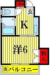 ラヤマコーポ[303号室]の間取り