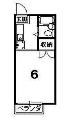 ハイツ紫明[103号室]の間取り