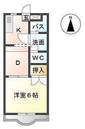 フォレストII[3階]の間取り