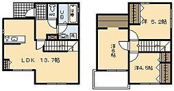 [一戸建] 宮崎県宮崎市下北方町 の賃貸【/】の間取り