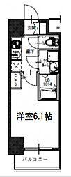 Osaka Metro長堀鶴見緑地線 西大橋駅 徒歩6分の賃貸マンション 8階1Kの間取り