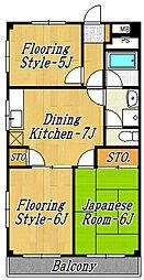 ISE第2マンション[2階]の間取り