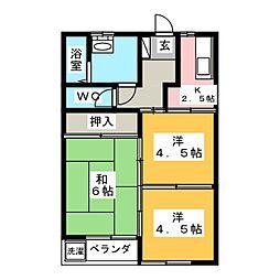 シエル宮下[2階]の間取り