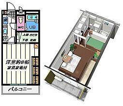 埼玉県吉川市きよみ野2丁目の賃貸アパートの間取り