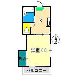 スカイTOKYO[2階]の間取り