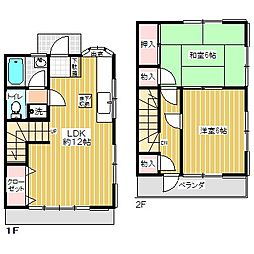 [テラスハウス] 東京都青梅市勝沼2丁目 の賃貸【/】の間取り