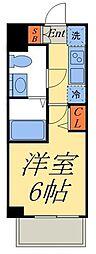 京成押上線 京成立石駅 徒歩8分の賃貸マンション 5階1Kの間取り