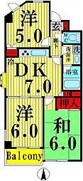 ツイン21堀家[201号室]の間取り