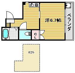 大阪府茨木市見付山1丁目の賃貸マンションの間取り