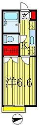 ポポラーレ八潮[2階]の間取り