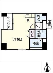 GRANDUKE東別院crea[10階]の間取り
