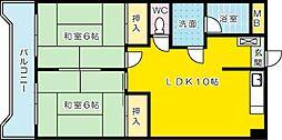 第2廣木興産ビル[403号室]の間取り
