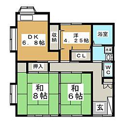 シャル吉成[1階]の間取り