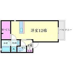 シルクコート[1階]の間取り