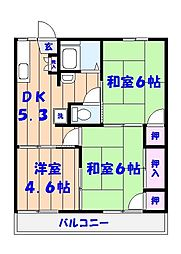 ドルフ石井B[207号室]の間取り