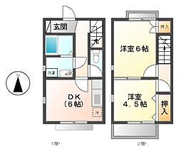 ドゥメゾン(Deux Maison)[2階]の間取り