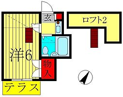 ミナミエステート[1階]の間取り