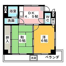 栄生町17高村ハイツ[3階]の間取り