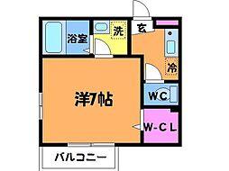 東京都府中市白糸台4丁目の賃貸アパートの間取り