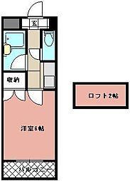PLEAST医生ヶ丘[505号室]の間取り