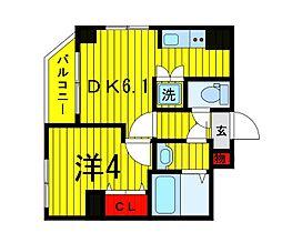 Terrace東浅草[401号室]の間取り