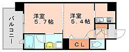 エンクレストNEO博多駅南[11階]の間取り
