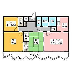 シティマンション新瑞東[7階]の間取り