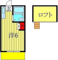 ロフティドリームNO1・2[2-102号室]の間取り