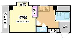 兵庫県神戸市兵庫区湊川町6丁目の賃貸マンションの間取り