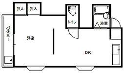 エルモス百道[1階]の間取り