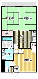 サンライズ清武[3DK号室]の間取り