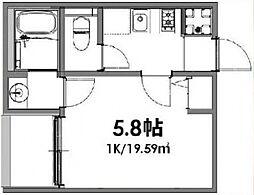 ベルメント東平賀[201号室号室]の間取り