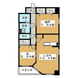 S−FORT葵[15階]の間取り
