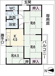 横井邸貸家 3号の間取り