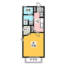 プランドール富塚[1階]の間取り