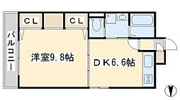コスモス小倉駅前II[801号室]の間取り